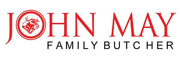 John May Family Butchers Retina Logo